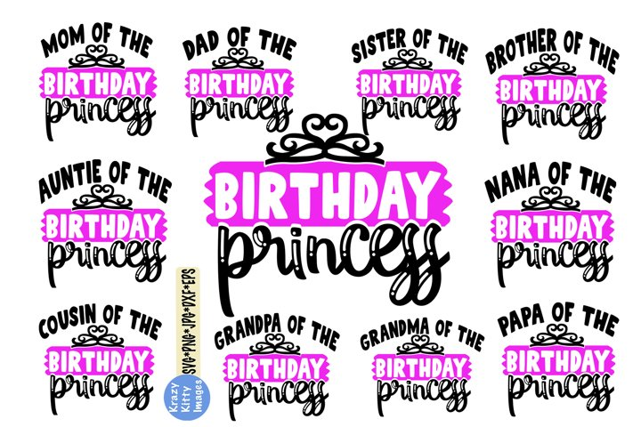 birthday princess family svg bundle, mom birthday princess