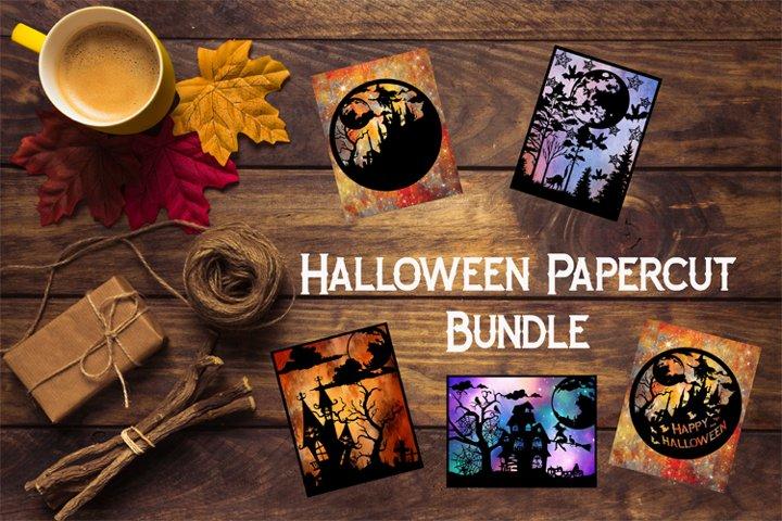 Halloween SVG Bundle, Halloween Papercuts, Fall Decor