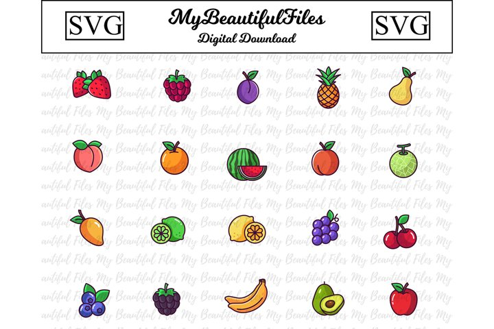 Fruits SVG - Fruit SVG Bundle