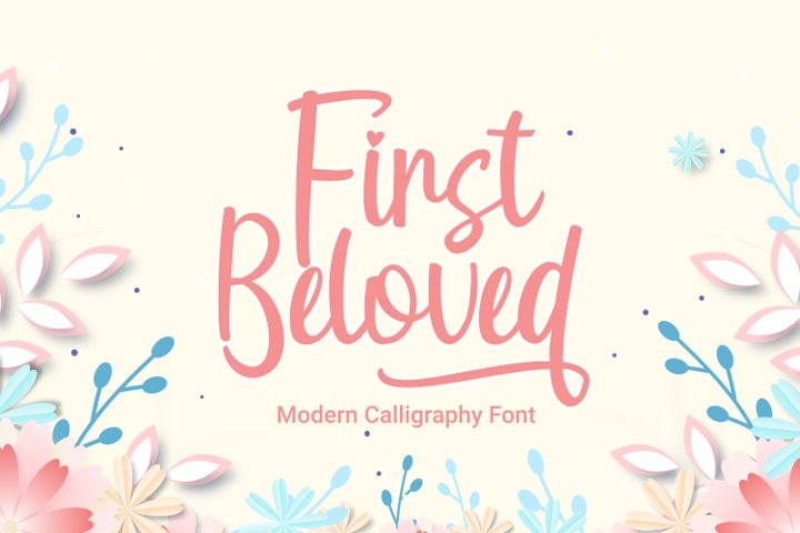 First Beloved - Modern Calligraphy Font