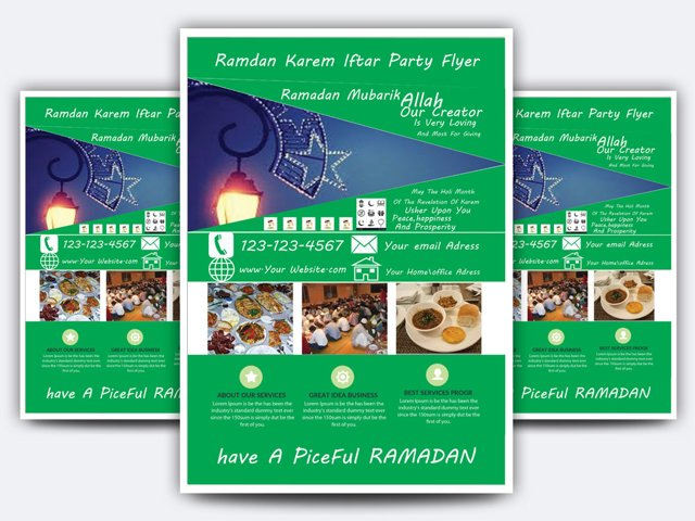 Ramadan kareem Iftar Party  Flyer