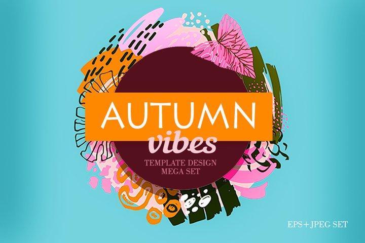 Autumn Fall Vibes - template design mega set