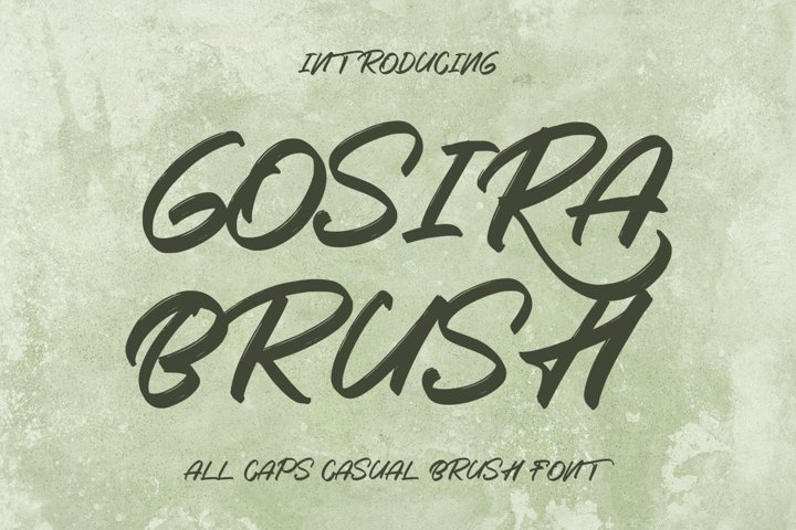 Gosira Brush - Display Brush Font