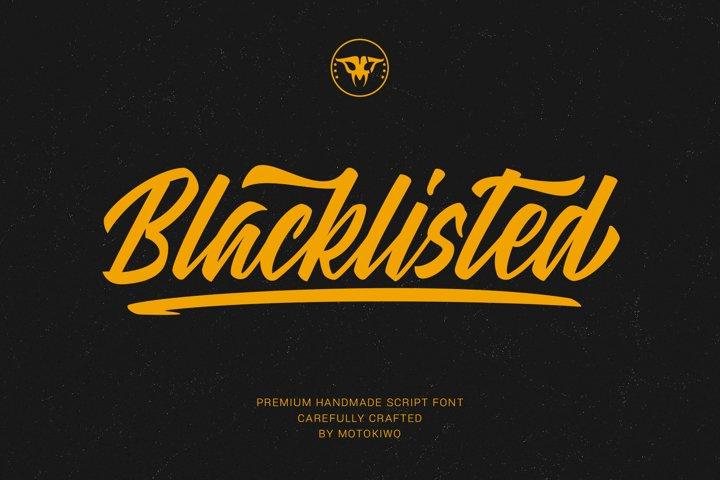 Blacklisted - Vintage Script Font