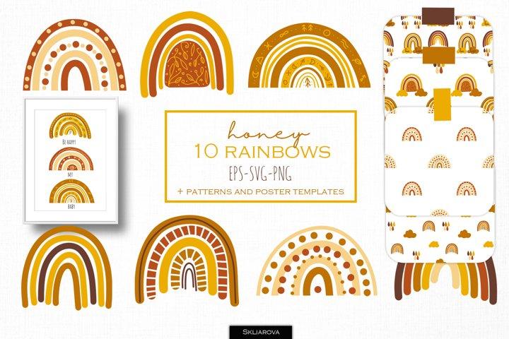 Autumn honey rainbows