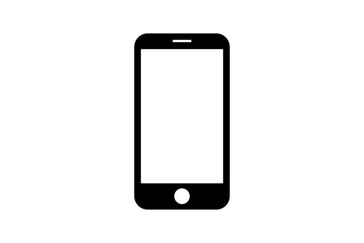 Smartphone icon symbol isolated