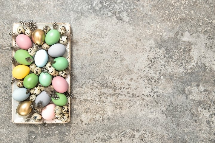 Easter eggs decoration Easter template background