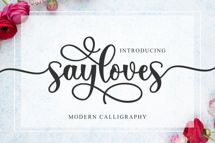 Sayloves