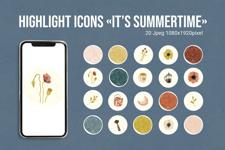 Highlight icons Its Summertime
