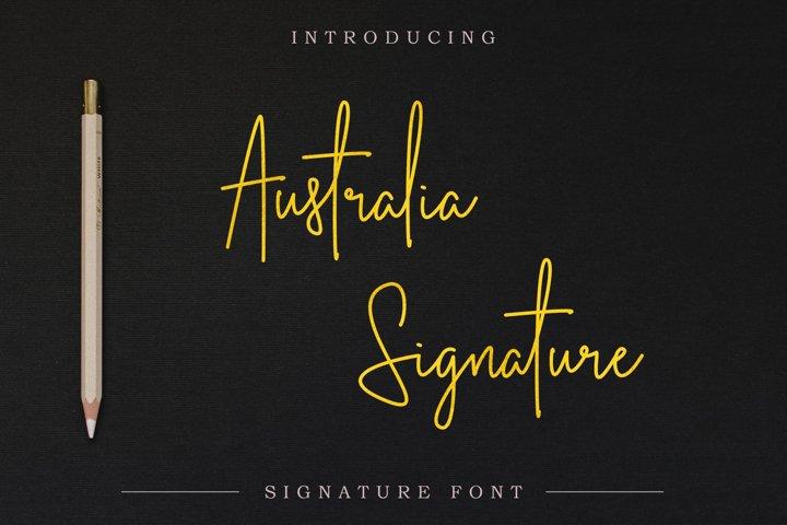 Australia Signature | Script Font