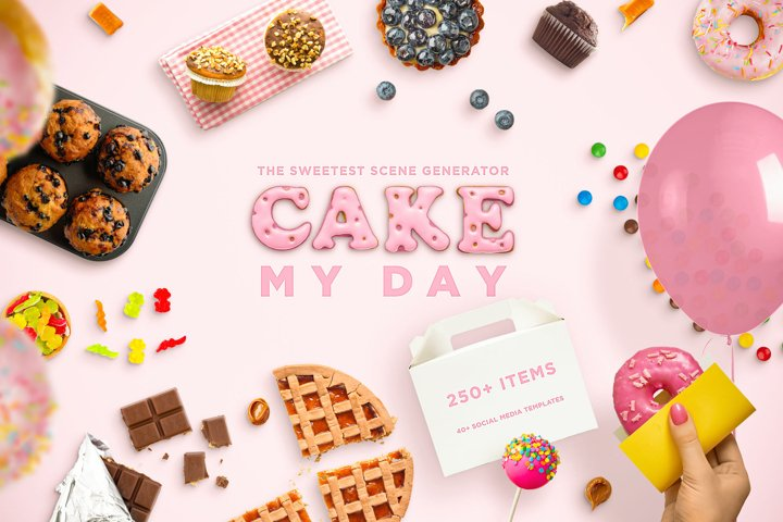 Cake My Day! The Sweetest Scene and Mockup Creator