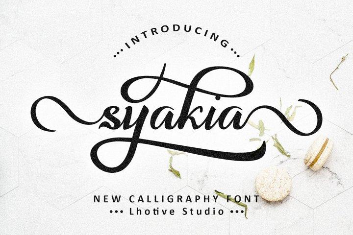 Syakia | New Calligraphy Font