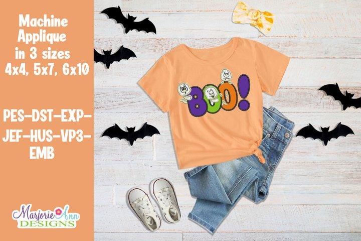 BOO Halloween Applique/Embroidery Design