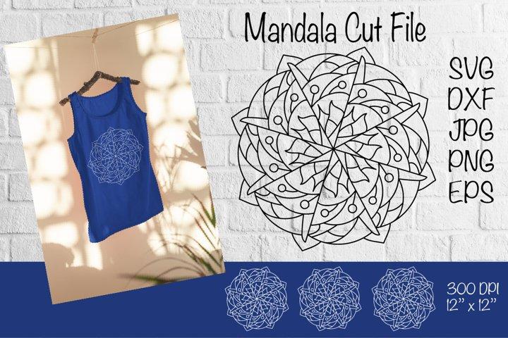 Mandala SVG. Mandala Cut File. Mandala Paper Template.