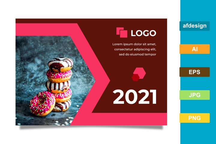 2021 Calendar with the Theme of Food