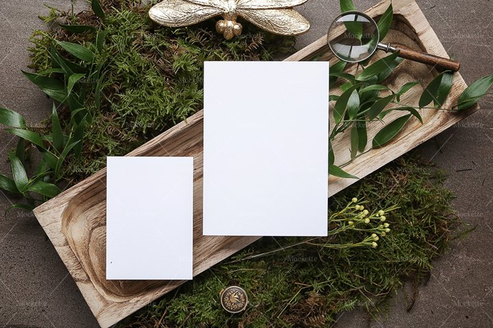 Wedding Stationery Mockup - Invite - Woodland Collection