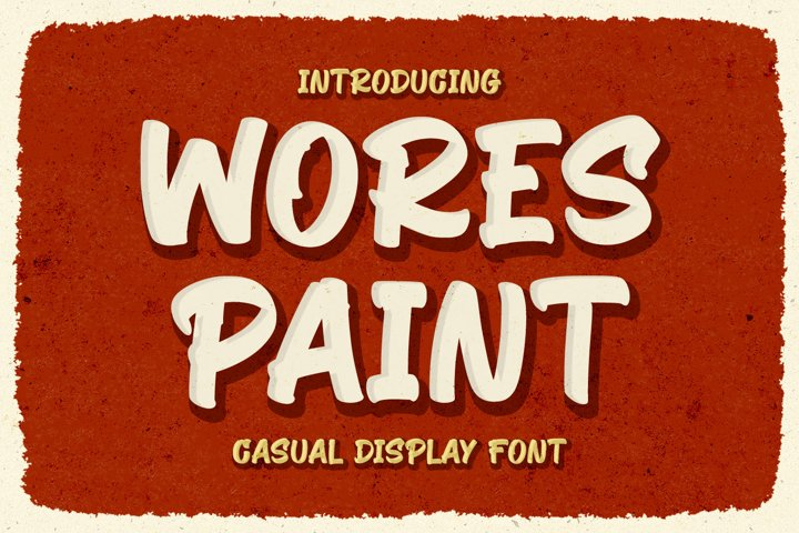 Retro Display Font - Wores Paint