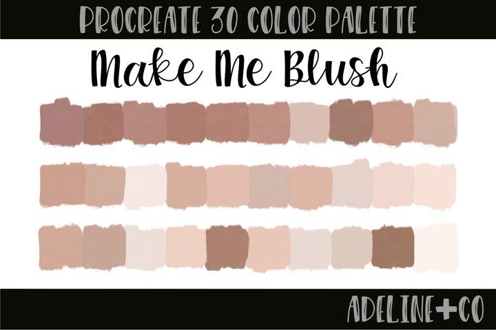 Make Me Blush Procreate color palette