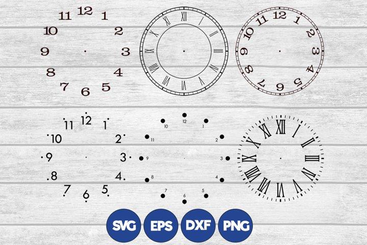 6 Clock Face Bundle - various files formats