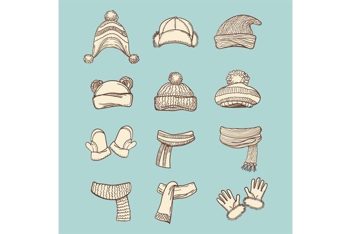 Vintage style winter accessories set