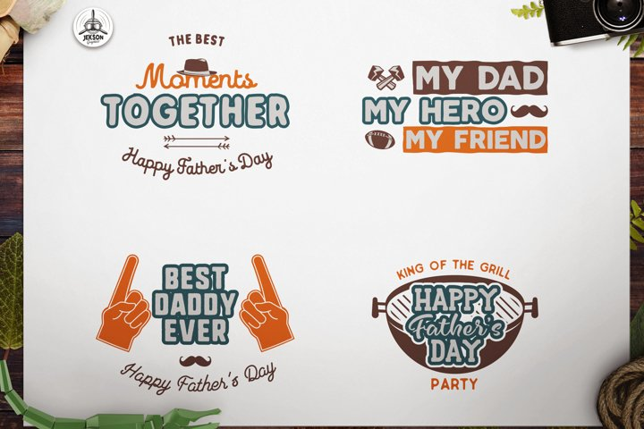 Fathers Day Print Templates Bundle, Retro Dad T-shirts SVG