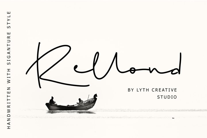 Rellond Signature Font