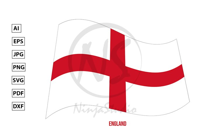 England Flag Waving Vector. Countries of the United Kingdom