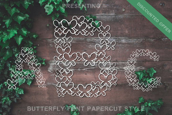 Butterfly Font - Alphabets Butterfly Shapes for Crafters