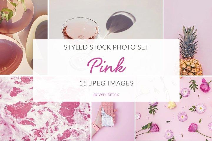 Pink. Stock photo set