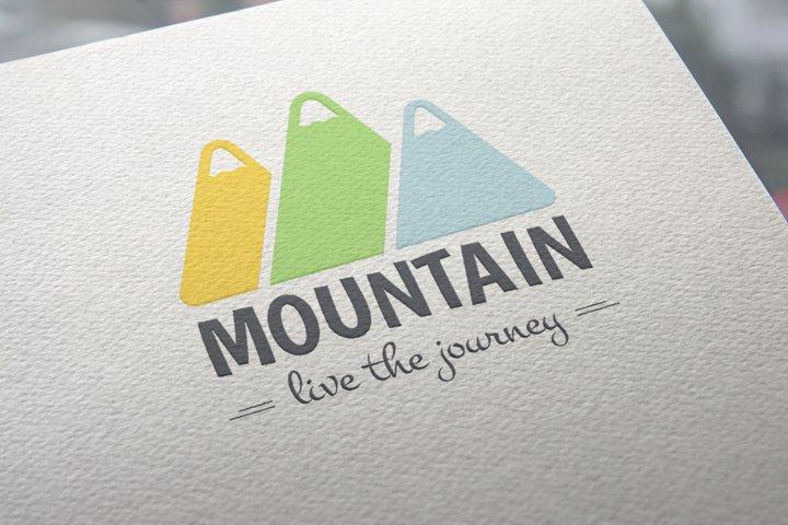 Mountain Logo Template example