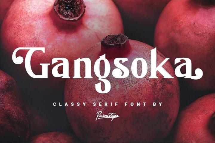 Gangsoka - Classy serif font