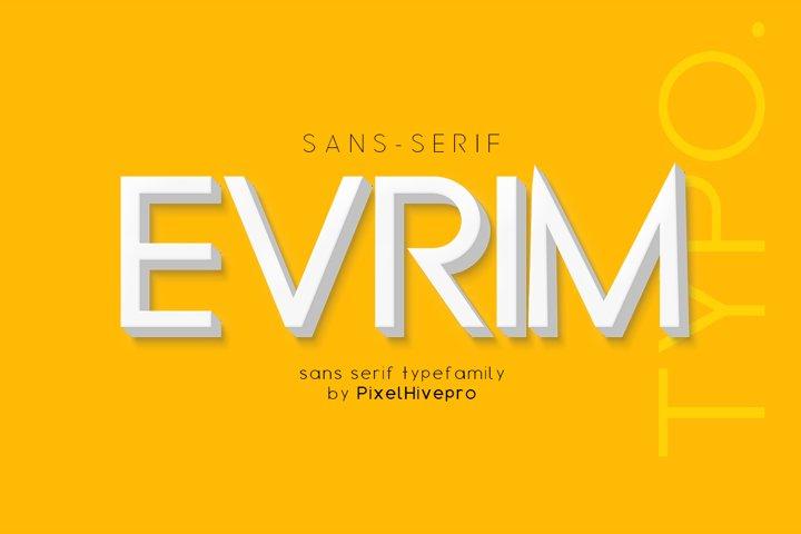 Evrim Sans Serif Font