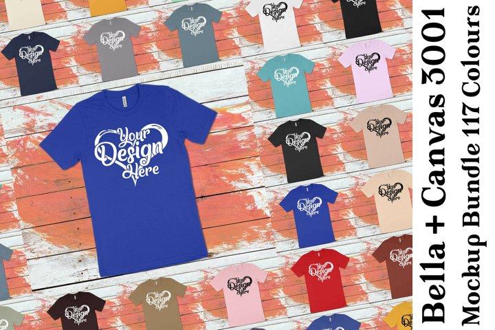 Bella Canvas 3001 T-Shirt Mockup Bundle 440
