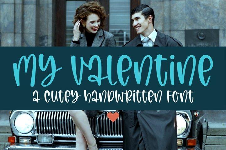 My Valentine- a cutey handritten font