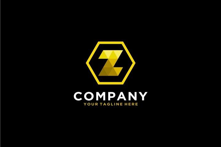 Letter Z luxury gold pixel logo
