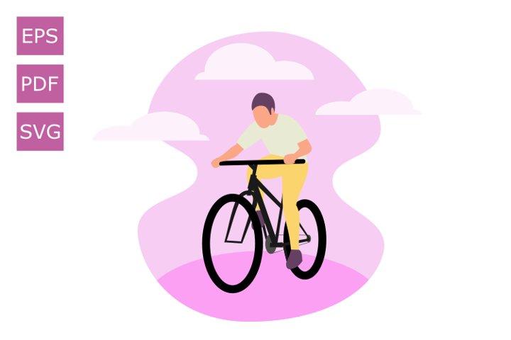 Flat Illustration Human Cycling 2