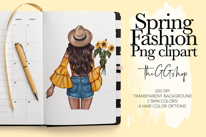 Fashion Clipart // Spring Clipart // Fashion Illustration //