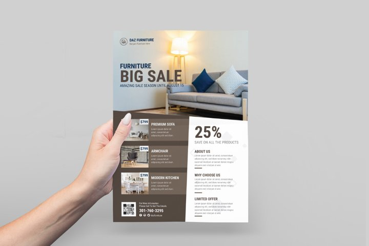 Furniture Store Flyer Design