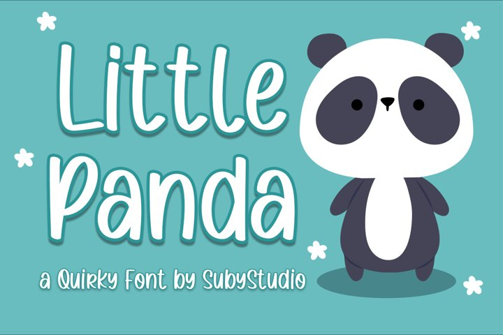 Little Panda - a Quirky Font