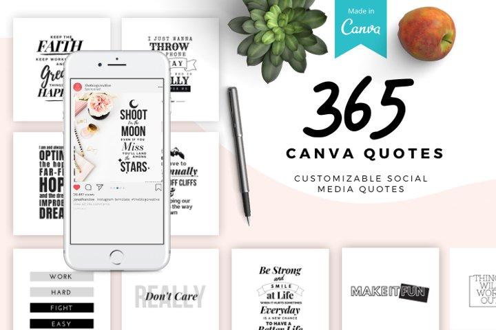 365 Customizable Canva Templates. Social Media Quotes