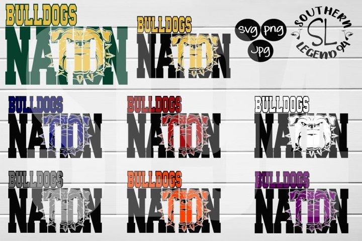Bulldogs Nation 8 set bundle png svg dxf