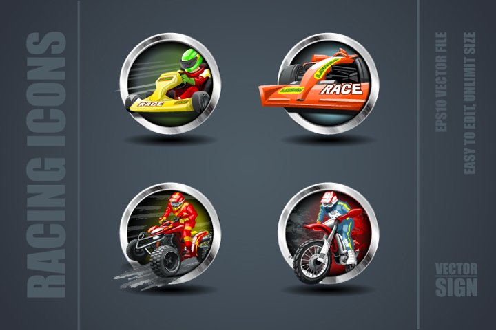 Racing Games Icons