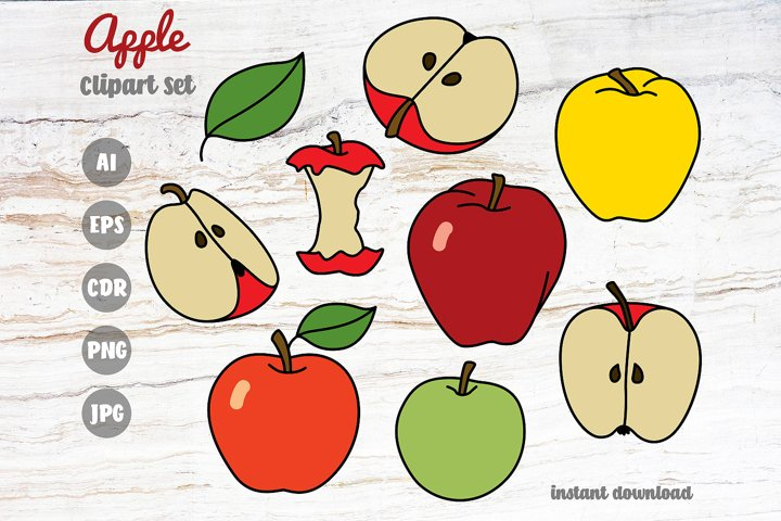 Apple Clipart Set