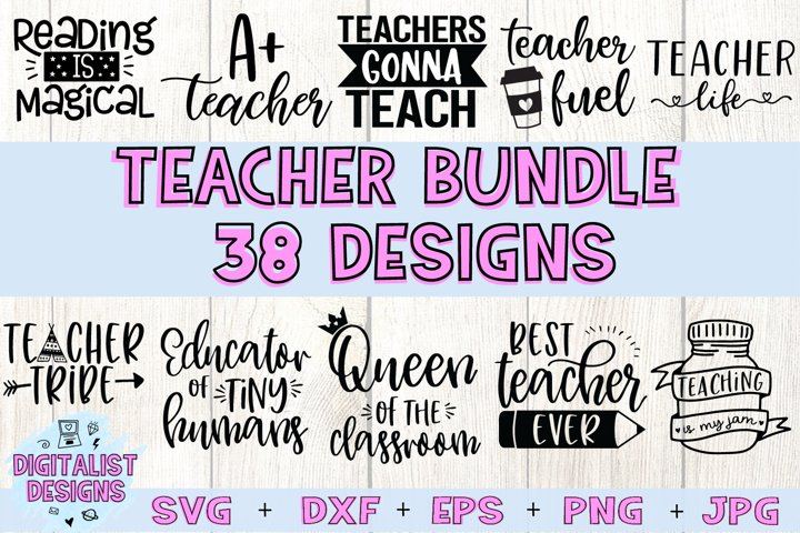 Teacher SVG Bundle | Teacher Bundle | Teacher Quotes