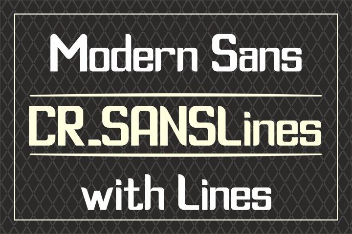 CR_SANSLines - Sans Serif Font with curved lines