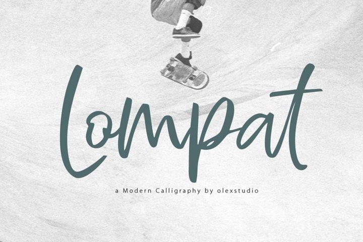Lompat - Luxury Handlettered Font