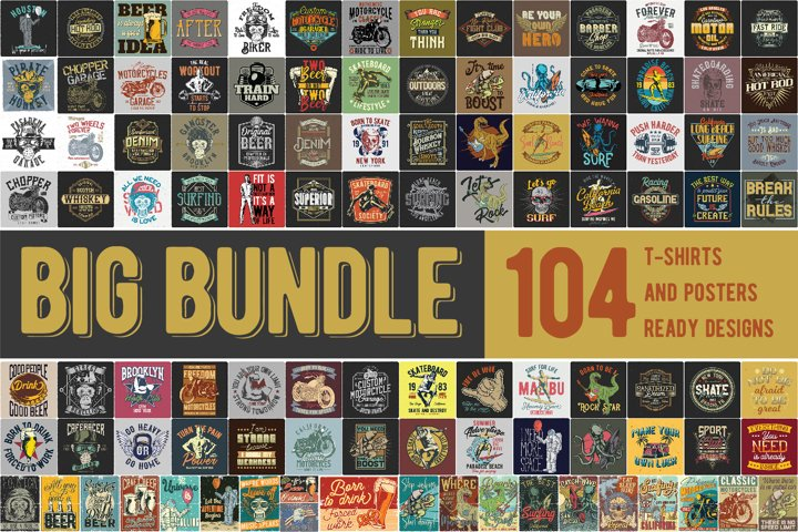 T-shirts and posters Big Bundle 2.0