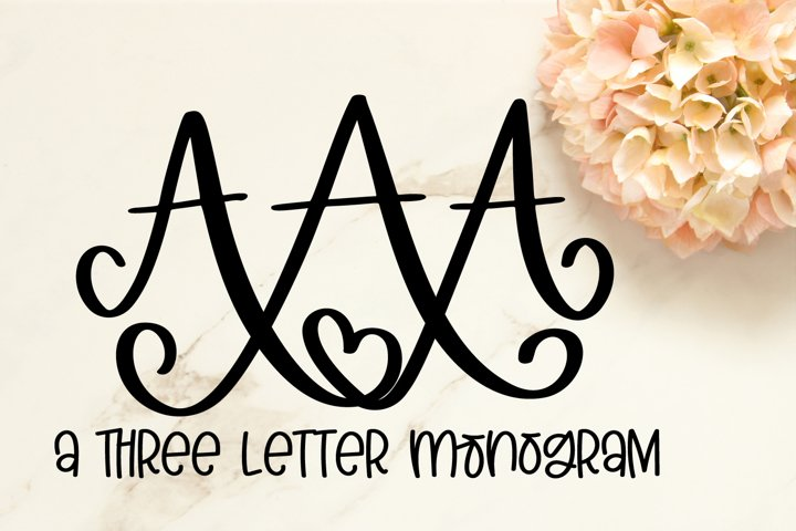 3 Letter Monogram Font