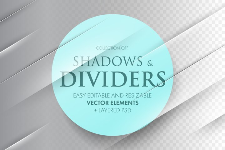 Collection of Transparent shadows and dividers.