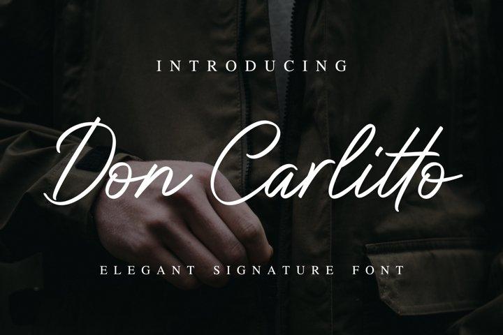 Don Carlitto - Elegant Signature Font